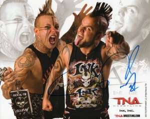INK INC SIGNED BY JESSIE NEAL TNA WRESTLING PROMO PHOTO P95 WWE