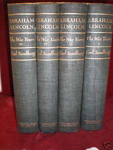 Abraham Lincoln.The war years. Carl Sandburg.4 Volumes.