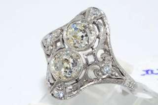 14988 1.22CT ANTIQUE ART DECO OLD MINER CUT DIAMOND RING VS PLAT SIZE