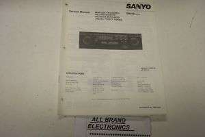 SANYO ER100 CAR STEREO PLAYER SERVICE MANUAL H/C