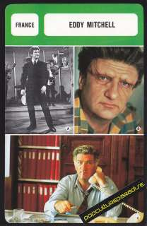 EDDY MITCHELL Movie Star FRENCH BIOGRAPHY PHOTO CARD