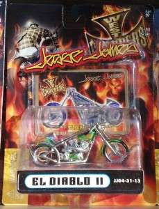 COAST CHOPPERS EL DIABLO II JESSE JAMES 1/31 MUSCLE MACHINES ONE ONLY