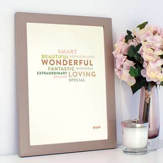 personalised type personality print by open box design