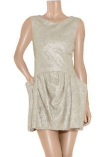 Theyskens Theory Dilliam metallic brocade mini dress    Now at