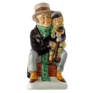Wood and Sons Bob Cratchit and Tiny Tim toby jug Charles