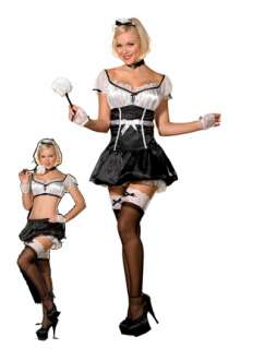 Womans 5 Star Service Costume  Sexy French Maid Halloween Costumes