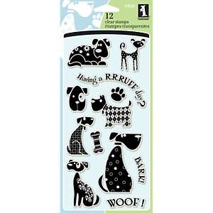 Inkadinkado 4 x 8 Sheet of Clear Stamps   Dogs