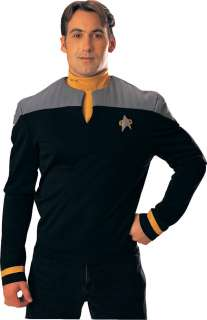 Deluxe Deep Space Nine Star Trek Uniform Gold Shirt   Adult Star Trek