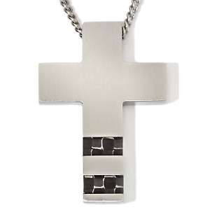 Carbon Fiber Stainless Steel Performance 24 Necklace