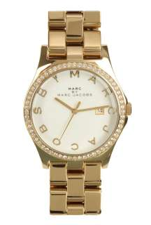 Gold Crystal Bezel Watch by Marc by Marc Jacobs Watches   Metallic