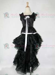 Chobits Chi Black Dress Cosplay Costume
