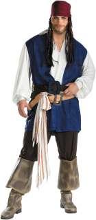 Pirates Of The Caribbean   Jack Sparrow Classic Plus Adult Costume