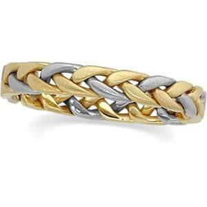 Designer Jewelry Gift 14K Yellow/White Gold Wedding Band Ring Ring