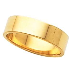 14K Yellow Gold Wedding Band Ring Ring. 05.00 Mm Flat Band In 14K