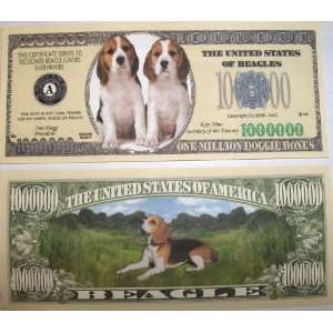Set of 10 Bills Beagle Million Dollar Bill: Toys & Games
