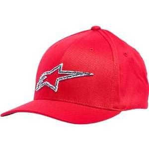 Alpinestars Stitches Mens Flexfit Race Wear Hat/Cap   Red