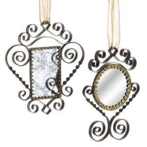 Wendy Addison Antique Mirror Christmas Ornaments Set of 2