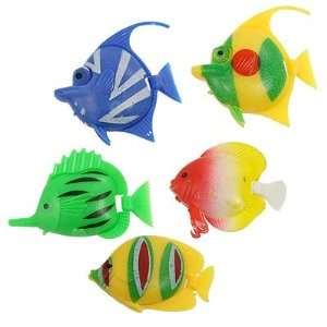 Pcs Colorful Plastic Tropical Fish for Aquarium Decor: Pet Supplies
