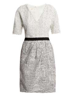 Flecked silk linen and tweed dress  Giambattista Valli  Matc