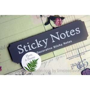 Flora and Fauna Sticky Notes Assorted in Tin: Office Products