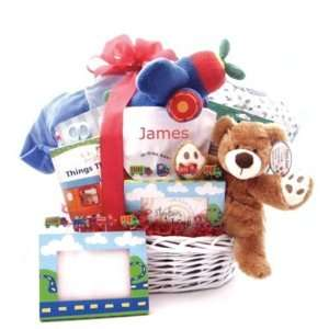 On The Go New Baby Boy Gift Basket   Great Shower or Christmas Holiday