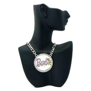 Nicki Minaj Barbie Pendant with 20 Inch Link Necklace Chain Jewelry