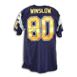 Kellen Winslow Signed Uniform   Navy Blue Throwback