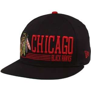 Era Chicago Blackhawks Black Retro Look 9FIFTY Snapback Adjustable Hat