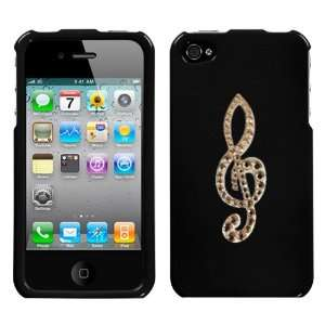 Black and White Crystal Rhinestone Bling Bling Music Note Treble Cleft