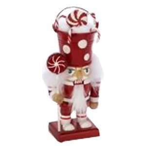 7.5 Inch Candy Bucket Hat Holiday Christmas Nutcracker Red