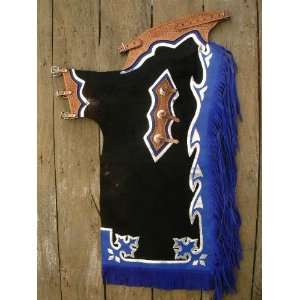Bull Riding Soft Hair On Leather Rodeo Western Chaps