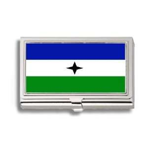 People Bantu Flag Business Card Holder Metal Case