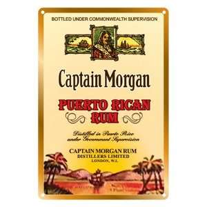 Captain Morgan Puerto Rican Metal Bar Sign Kitchen