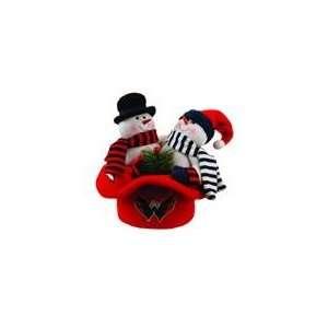 Capitals Snowmen Top Hat Table Christmas Decor