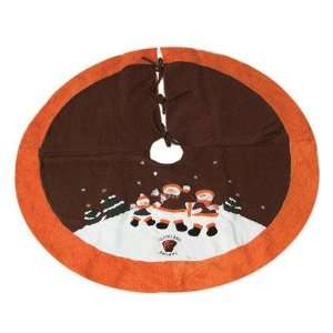 Cleveland Browns Nfl Snowman Holiday Tree Skirt (48)