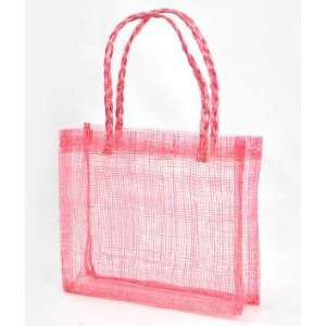 Pink Sinamay Mini Tote Bags 12 Pack Fabric: Everything Else