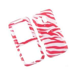 Phone Design Cover Case White and Hot Pink Zebra For Samsung Messager