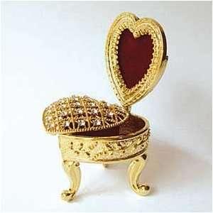 Box & Photo Frame Swarovski Crystals 24K Gold Jewelry Trinket Pill
