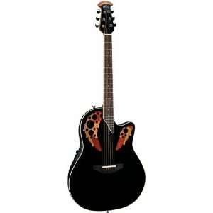 6868AX Standard Elite Super Shallow Acoustic Electric Guitar, Black