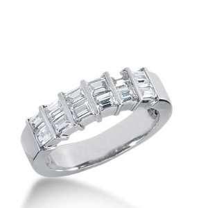 14k Gold Diamond Anniversary Wedding Ring 12 Straight