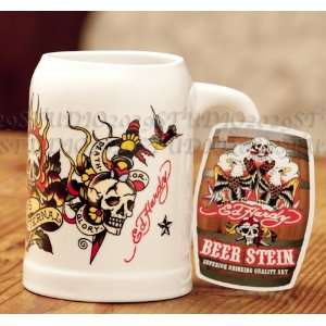 Ed Hardy Hops Eternal Ceramic Beer Stein / Mug  Kitchen