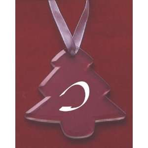 Glass Christmas Tree Ornament with the Letter I
