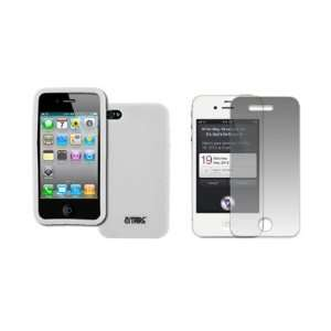 EMPIRE Apple iPhone 4S White Silicone Skin Case Cover