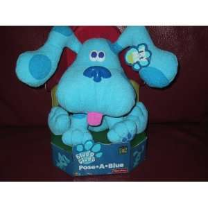 Blues Clues Pose a Blue Posable Ears Fisher Price Plush Toys & Games