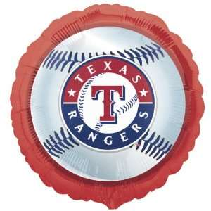 Lets Party By Texas Rangers Baseball Foil Balloon