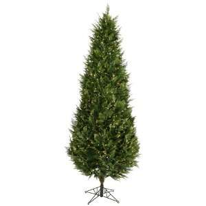 Clear Pre Lit Cedar Fir Christmas Tree  Home
