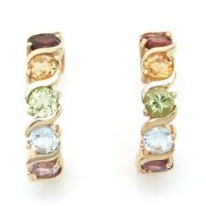 Silver Gold Plated Various Semiprecious Gemstones Earrings Jewelry