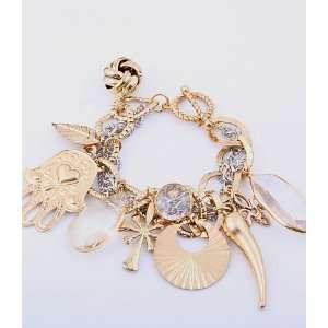 Fashion Jewelry Charm Bracelet with Hamsa Gold