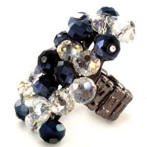 Faceted Crystal Beads Stretch Ring West Coast Jewelry Jewelry
