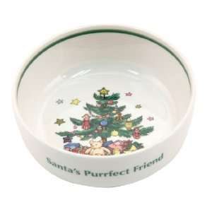Nikko Christmas Tree Santas Perfect Friend 5 Inch Cat Feeding Bowl